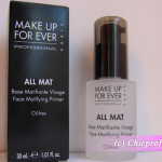 Review: Make Up For Ever All Mat – Face Matifying Primer -Photos and Details