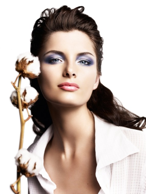 Clarins-Cotton-Flower-model-Spring-2010-Collection