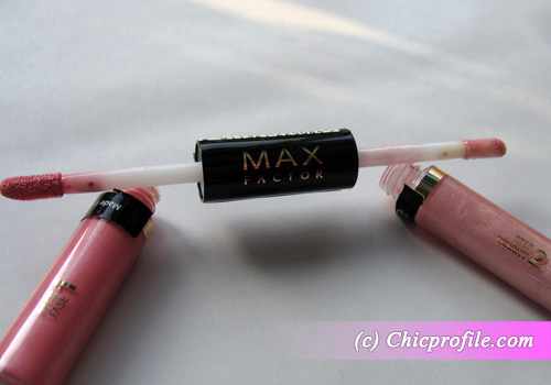 Max-Factor-Lipfinity-Colour-Gloss-Shimmering-Pink-brushes