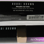 Bobbi Brown Metallic Lip Color in Coral Glaze – Review, Photos, Swatches, Lip Swatches