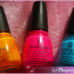 China Glaze Poolside nail polish collection for Summer 2010 – Review Round-Up