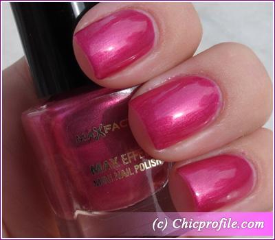 Max Factor – Diva Pink nail polish – 2 coats