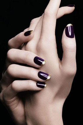 YSL fall 2010 duo nail polish purple gold YSL Rock and Baroque  Nail Polish creates new trends for Fall 2010