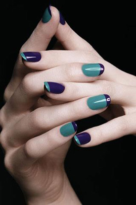 YSL fall 2010 french manicure YSL Rock and Baroque Nail Polish  creates new trends for Fall 2010