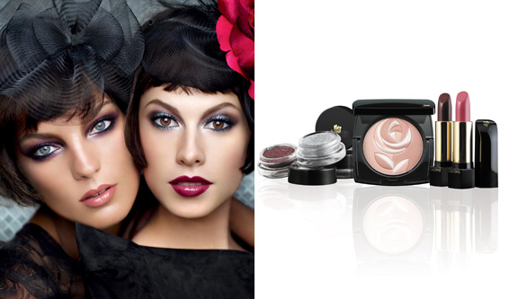 Lancome French Coquettes fall 2010 Makeup Look Lancome French Coquettes Collection for Fall 2010   Face Charts and Makeup Tutorial