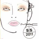 MAC Spring – Summer 2010 Makeup @London Fashion Week 22.09.2010 – Face Charts