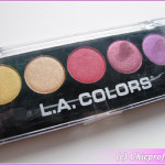 L.A. COLORS 5 Color Metallic Eyeshadow Palette in Wildflowers – Review, Photos, Swatches