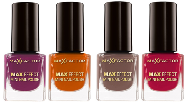 Max Factor fall winter 2010 mini nail polishes Max Factor Colour X PERT Collection for Fall   Winter 2010