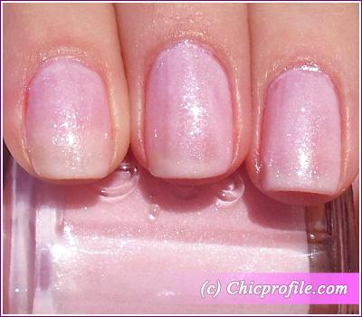 Essie Pink A Boo Nail Polish Two Coats