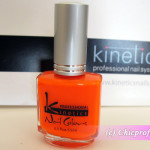 Kinetics Orange Pop Polish from Neon Spring 2012 Collection – Review, Nail Swatches & Photos