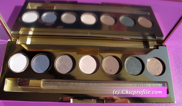 Estee Lauder Pure Color Eyeshadow Slim Golden Palette Estee Lauder Pure Color Eyeshadow 7 Palette   Review, Photos & Swatches