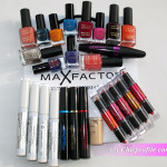 My package with makeup products and nail polishes from Max Factor – Preview