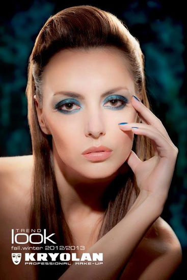Kryolan Blue Aura Makeup Look Fall Winter 2012 2013 Kryolan Blue Aura Trend Look for Fall/ Winter 2012   2013 by Kevin James Bennett