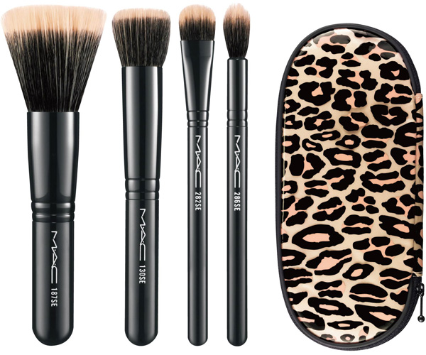 MAC Holiday 2012 Leopard Mineral Brush Set MAC Glamour Daze Holiday 2012 Collection & Gift Sets   Sneak Peek