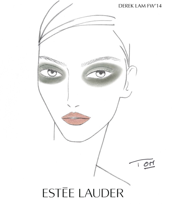 Estee-Lauder-Derek-Lam-Fashion-Show-Fall-Winter-2014-Face-Chart
