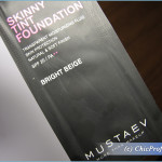 MustaeV Skinny Tint Foundation and Water Bomb Base – Swatches, Photos