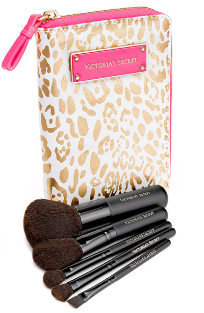 Victoria's-Secret-Golden-Leopard-Brush-Set