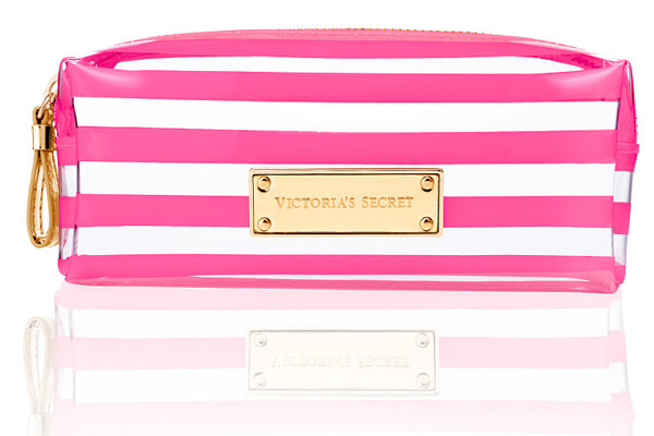 Victoria's-Secret-Signature-Stripe-Cosmetic-Bag