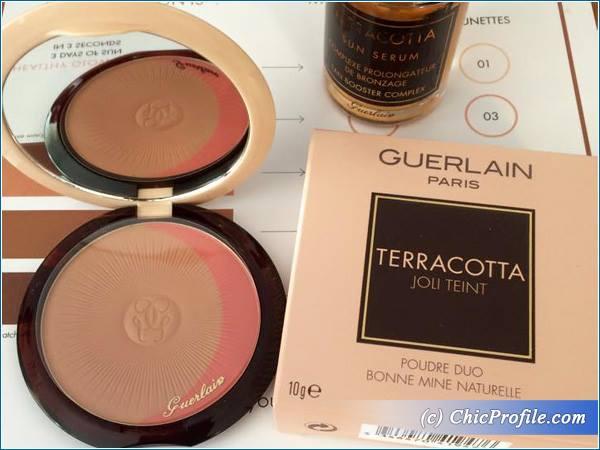 guerlain terracotta joli teint powder duo and sun serum 2015 beauty trends and latest makeup. Black Bedroom Furniture Sets. Home Design Ideas