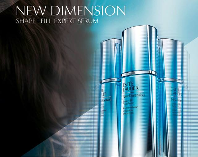 eva mendes for estee lauder new dimension skincare fall 2015 collection
