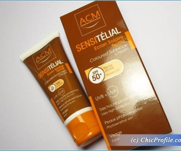 ACM Sensitelial Coloured Sunblock Cream SPF 50+ Review, Swatches, Photos