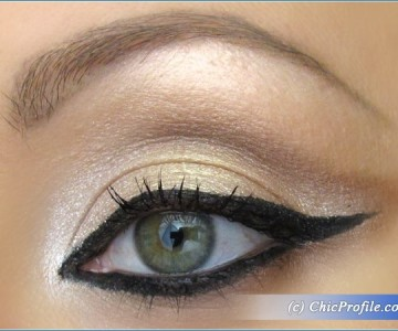 Black Eyeliner Meets Nude Eyeshadows