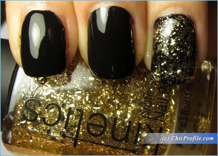 Kinetics-Solar-Gel-Jet-Black-Goldy-Nail-Polish-Swatches