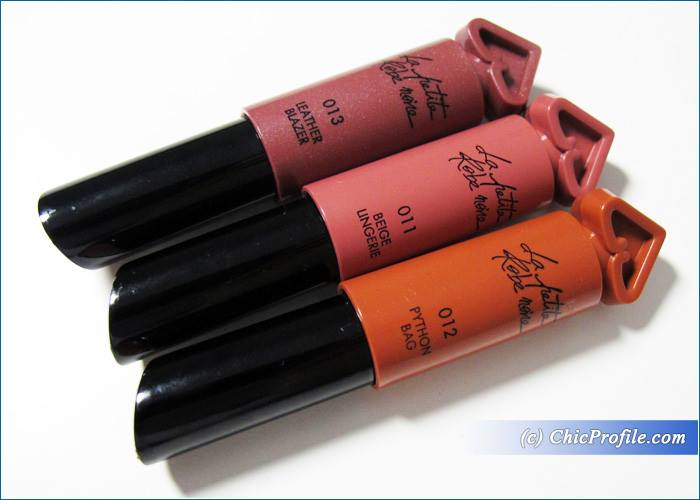 Guerlain-La-Petite-Robe-Noire-Lipstick-Beige-Lingerie-Python-Bag-Leather-Blazer-Review