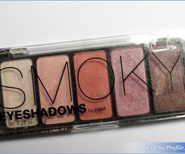 H&M Smoky Pink Eyeshadow Palette Review, Swatches, Photos