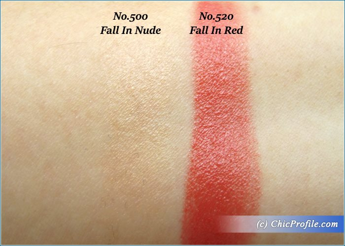 Guerlain-Kiss-Kiss-Fall-in-Nude-Fall-in-Red-Swatches