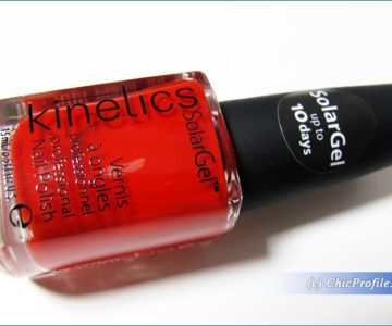 Kinetics One Night Girl Solar Gel Nail Polish, Review, Swatches, Before & After Photos