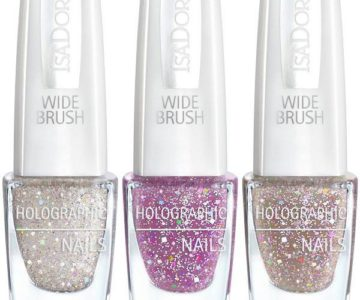 IsaDora Holographic Glitter Nails Holiday 2016