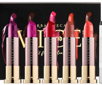 Urban Decay Holiday 2016 Full Frontal Reloaded Vice Lipstick Set