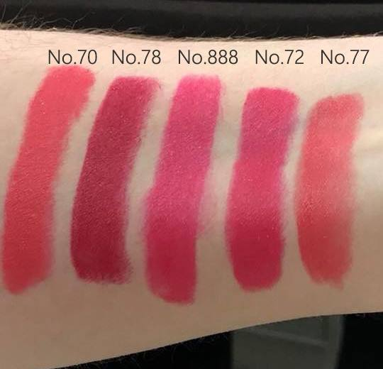 Guerlain New Rouge G Lipstick 2018 Swatches!!!