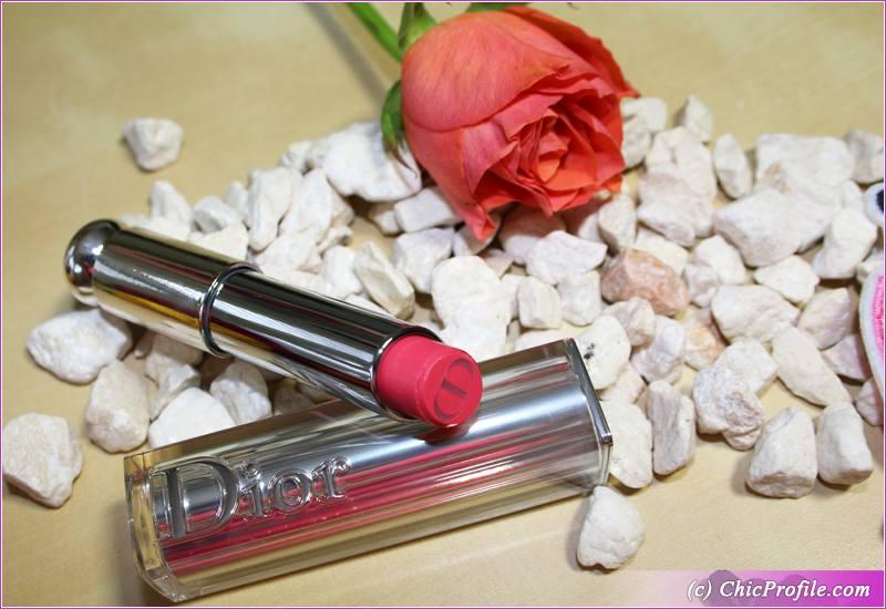 Dior Pink Drop Addict Lipstick Review, Swatches, Photos