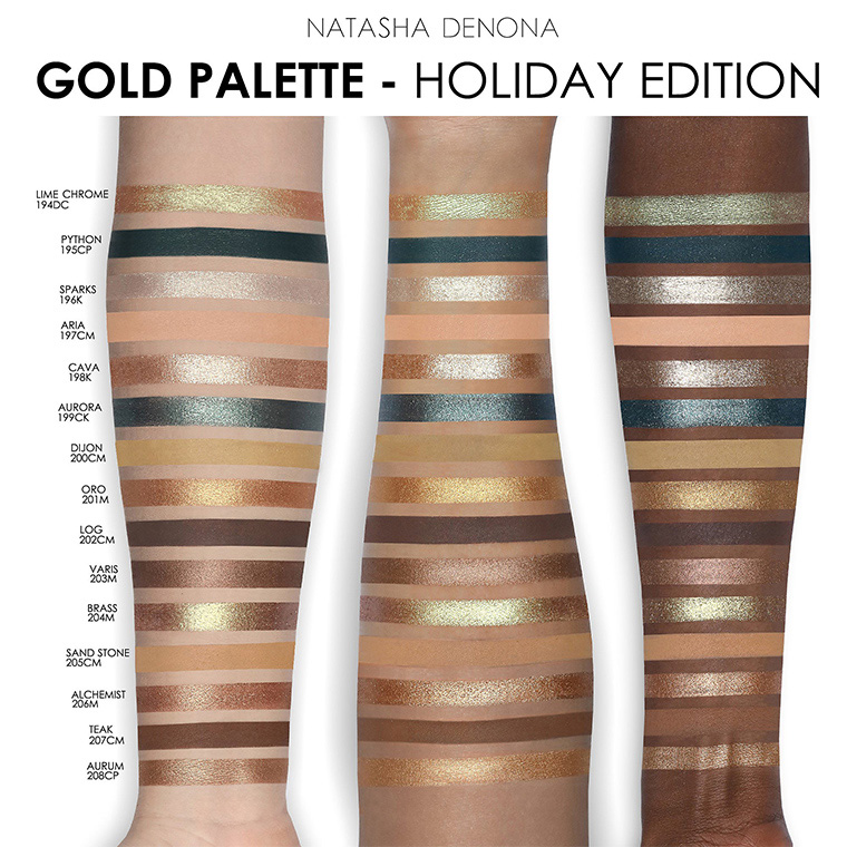 Natasha Denona Gold Eyeshadow Palette Holiday 2018 - Beauty Trends and Latest Makeup Collections ...