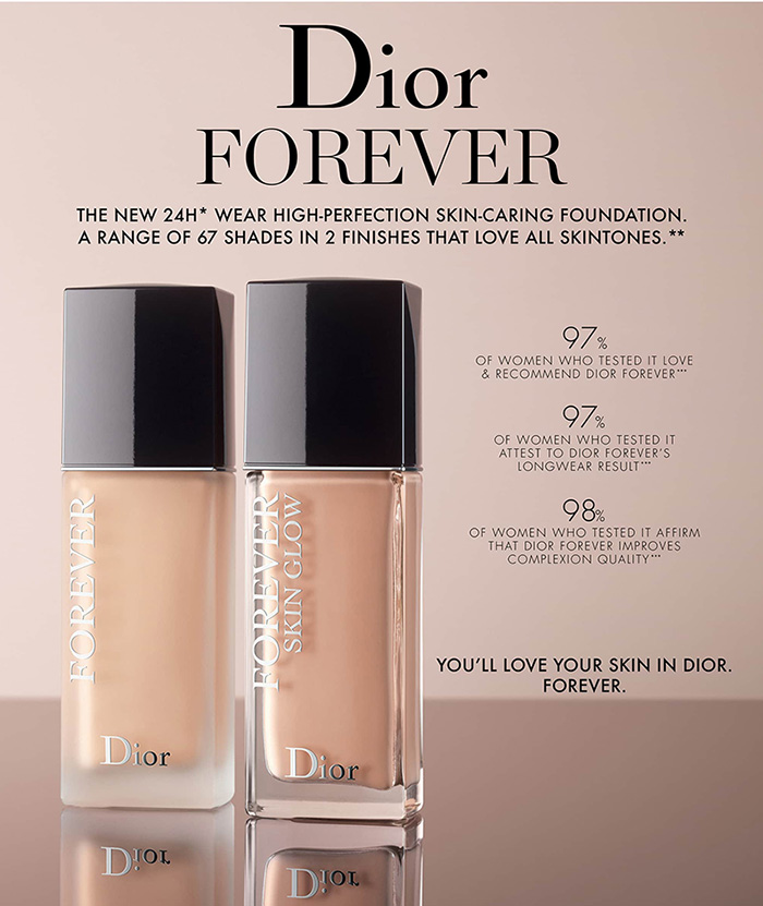 3c9a74c3a4 Dior Forever Skin Glow & Forever Foundations Spring 2019 - Beauty ...