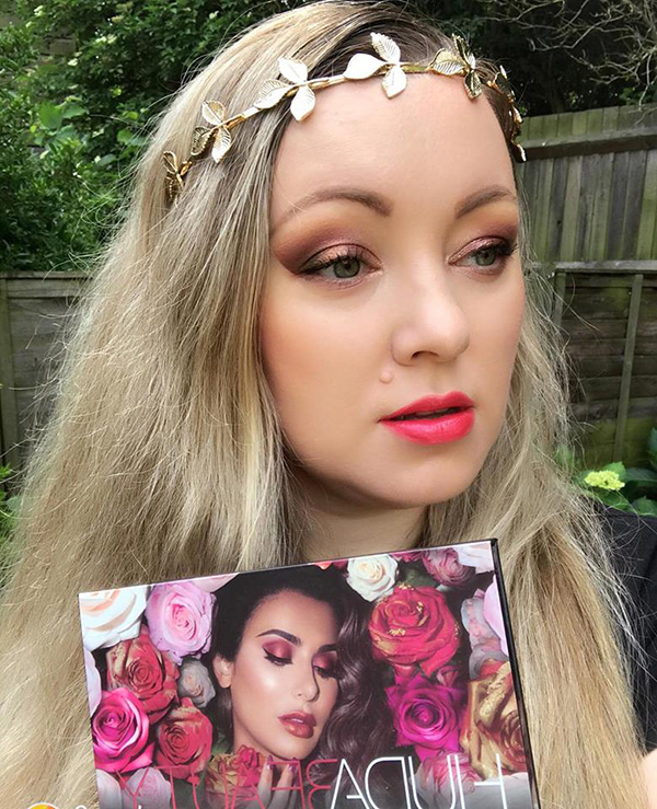Huda Beauty Rose Gold Remastered Palette Makeup Look Beauty Trends