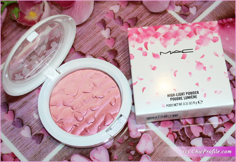 MAC Fleur Real High-Light Powder Review, Swatches, Makeup Look MAC