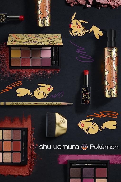 Shu Uemura Pokemon Pikachu Christmas 2019 Rouge Unlimited Amplified Crimson Spin