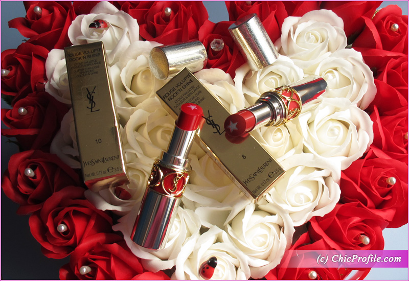 YSL Rouge Volupte Rock'N Shine Lipsticks