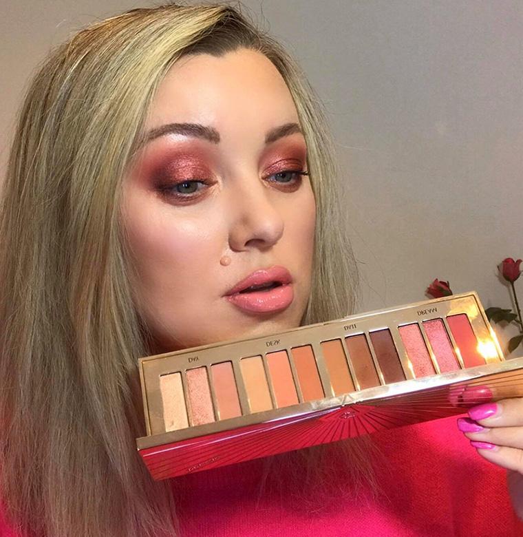Charlotte Tilbury Pillow Talk Instant Eye Palette Makeup Look