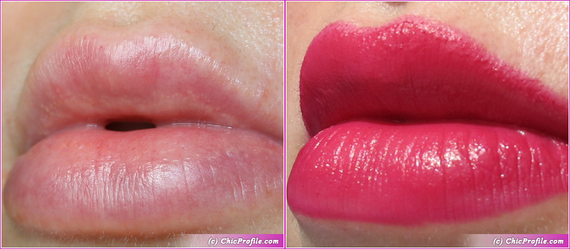 Hermes Rose Velours Rouge Matte Lipstick Lip Swatch