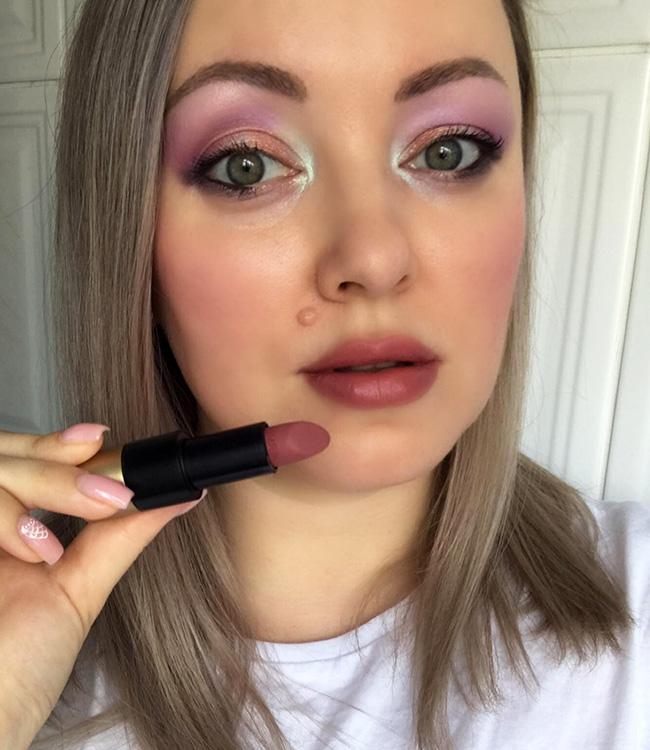 Hermes Rose Boise Lipstick Makeup Look