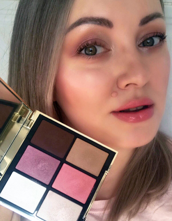Burberry Essentials Glow Palette Harmony (01) Makeup Look