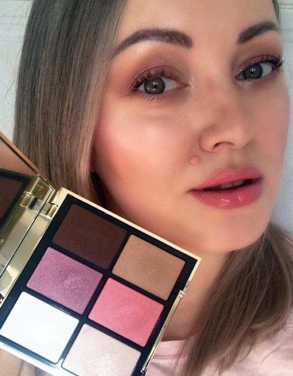 Burberry Essentials Glow Palette Harmony (01) Makeup Look