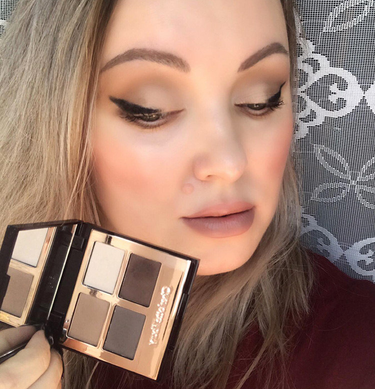 Charlotte Tilbury The Sophisticate Makeup Look Winged Eyeliner