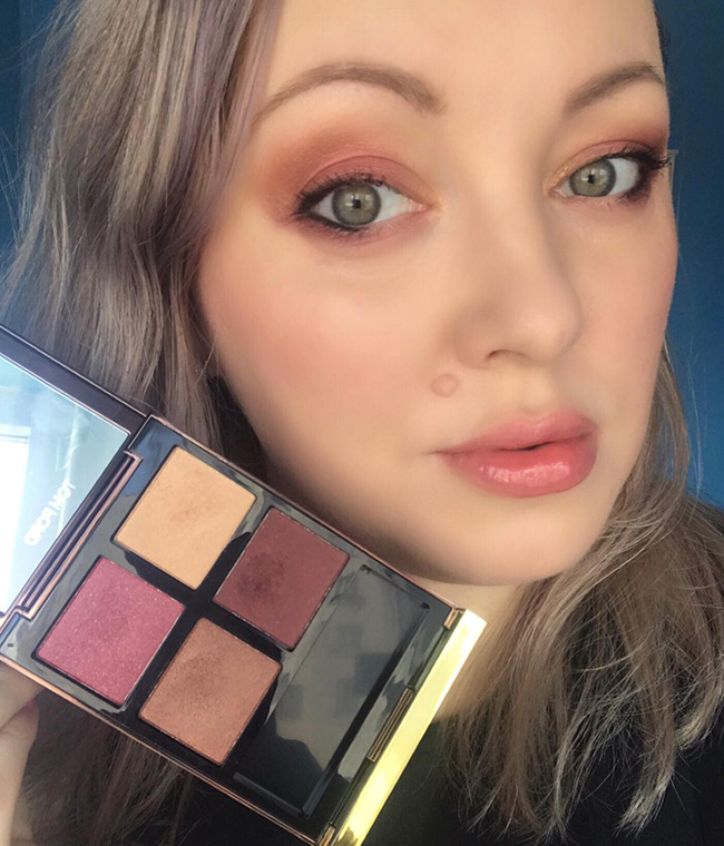 Tom Ford Burnished Amber Eye Color Quad Makeup Look