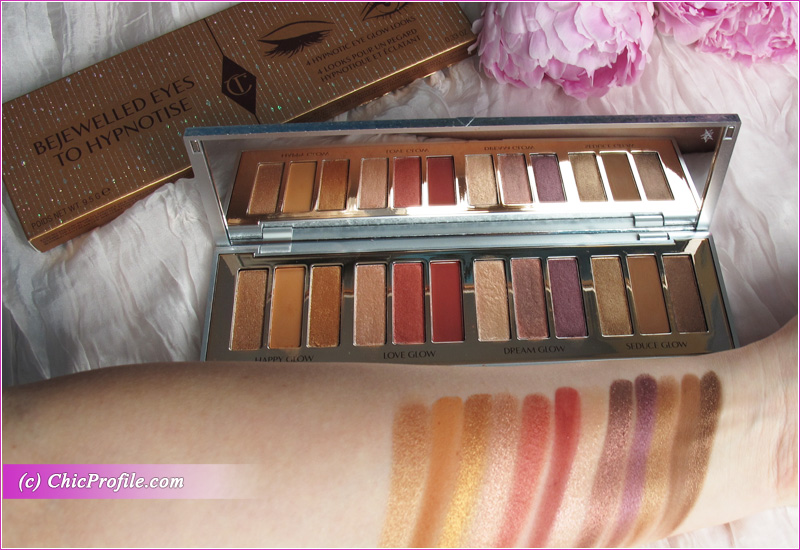 Charlotte Tilbury Bejewelled Eyes to Hypnotise Palette Swatches