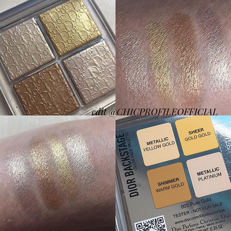Dior Backstage Glow Face Palette Pure Gold